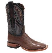 Tony Lama Mens Royal Blue Bandolero Coffee FQ Ostrich Boots
