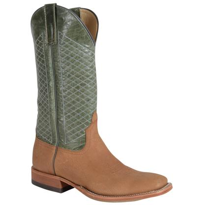 Anderson Bean White Tail Tan Green Explosion Top Mens Boots