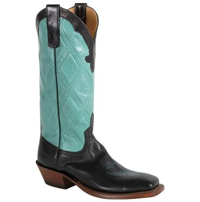 Anderson Bean Sweetwater Black Aqua Diamond Score Womens Boot