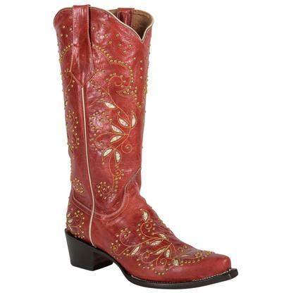 Ferrini Red Jezebel Leather Boots