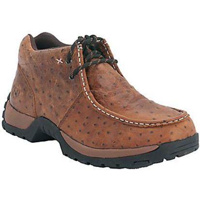 Roper Men's Faux Ostrich Performance Slip-On Shoes