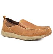 Roper Mens Slip On Swift Sole Tan Casual Shoe