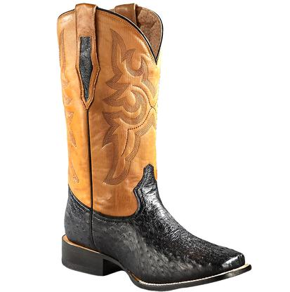 Roper Mens Gold Full Quill Ostrich Western Boots