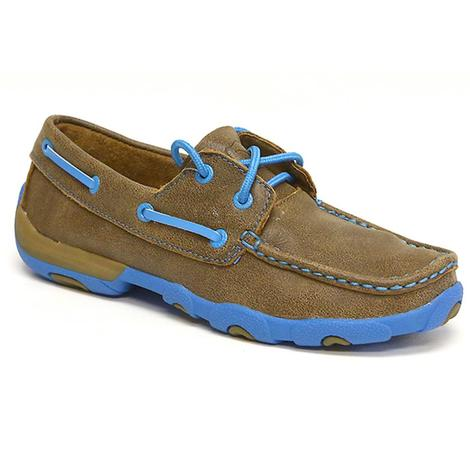 Twisted X Women's Driving Moc Cobalt Blue Accents