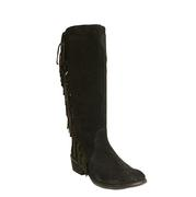 Roper Women's On the Fringe Suede Black Tall Boot