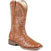 Roper Western Ladies Ostrich Square Toe Boots