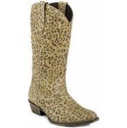 Roper Western Women's 13 Inch Leopard Tan Boots