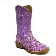 Roper Lavender Floral Glitter Purpler Kid Girls Boots