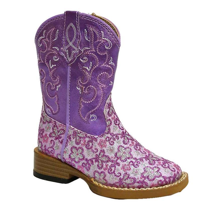 Roper Lavender Floral Glitter Purpler Infant Girls Boots