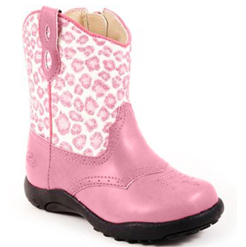 Roper Pink Glittery Leopard Cowgirl Boots - Infant
