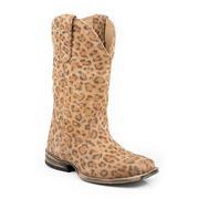 Roper Western Girls Kids Leopard Boots