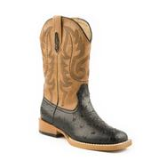Roper Youth Square Toe Faux Leather Western Boot