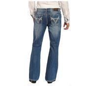 Rock & Roll Cowboy Men's Double Barrel Boot Cut Jeans