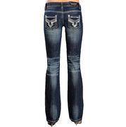Rock & Roll Cowgirl Women's Low Rise Boot Cut Jeans