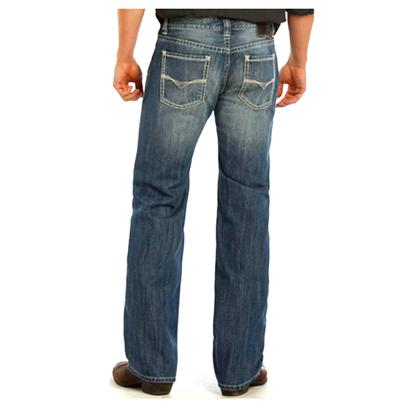 Rock & Roll Cowboy Mens Pistol Regular Fit Straight Leg Jeans