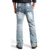 Rock & Roll Cowboy Mens Double Barrel Light Vintage Jeans