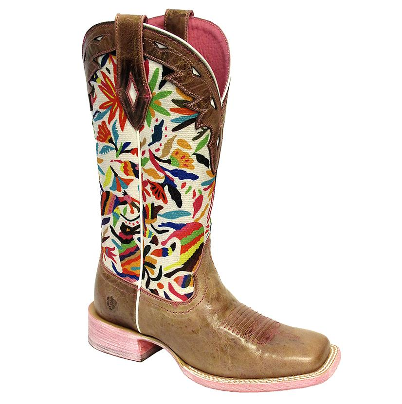 Ariat Womens Circuit Champion Dusty Pink Oaxaca Print Boots