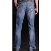 Rock & Roll Cowboy Denim Mens Relaxed Fit Light Wash Blue Jeans