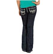 Rock & Roll Cowgirl Girls Aztec Embroidery Jeans