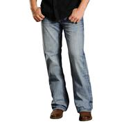 Rock & Roll Cowboy Mens Abstract Embroidered Pocket Cannon Jeans