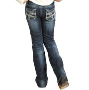 Rock & Roll Cowgirl Stitch Pocket Jeans