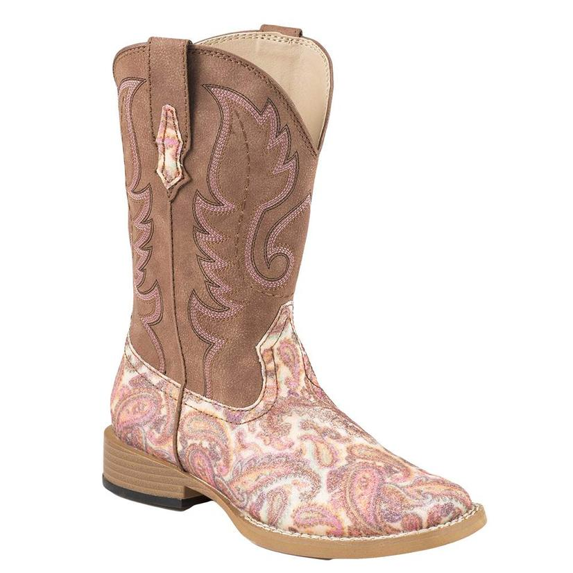 Roper Kid's Glitter Paisley Western Boots