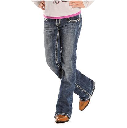 Rock & Roll Cowgirl Girls Vintage Youth Jeans