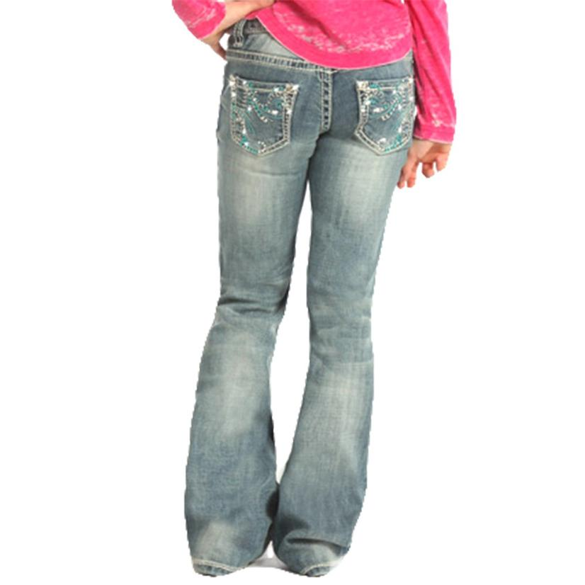 Rock & Roll Cowgirl Girls Low Rise Bootcut Jean