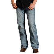 Rock & Roll Denim Abstract Embroidered Pocket Cannon Jeans