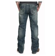 Rock & Roll Cowboy Men's Dark Vintage Wash Double Barrel Relaxed Fit Jeans