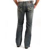 Rock & Roll Cowboy Mens Pistol Regular Fit Medium Vintage Straight Leg Jeans