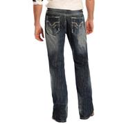 Rock & Roll Cowboy Mens Regular Fit Straight Leg Jeans