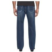 Rock & Roll Cowboy Mens Double Barrel Relaxed Fit Dark Wash Jeans