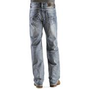 Rock & Roll Cowboy Men's Curvy Abstract Pocket Double Barrel Straight Leg Jeans