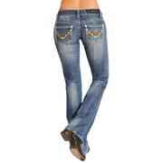 Rock & Roll Cowgirl Dark Wash Denim Jeans