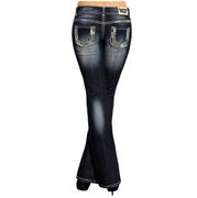 Rock & Roll Cowgirl Womens Boot Cut Embellished Jeans