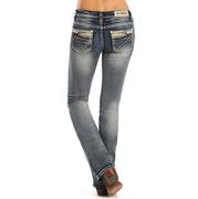 Rock & Roll Cowgirl Women's Juniors Mid Rise Jeans
