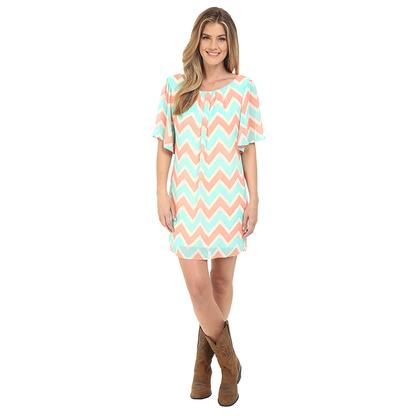 Rock & Roll Cowgirl Womens Flared Sleeve Dress