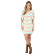 Rock & Roll Cowgirl Women's Flared Sleeve Dress