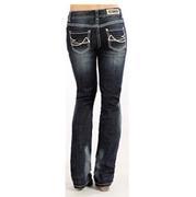 Rock & Roll Cowgirl Women's Boyfriend Fit Boot Cut Jeans