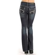 Rock & Roll Cowgirl Women's Rival Multi Color Embroidery Boot Cut Jean