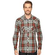 Rock & Roll Cowboy Mens Snap Herringbone Plaid Shirt