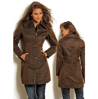 Rock & Roll Cowgirl Womens Western Long Trench Styled Coat