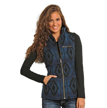 Rock & Roll Cowgirl Womens Aztec Vest