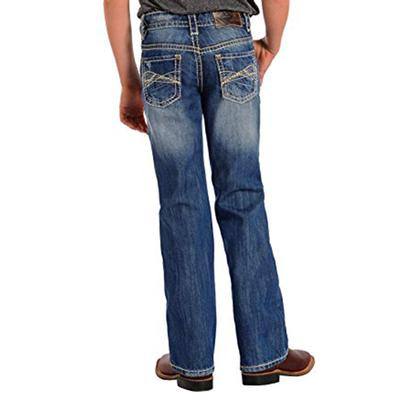 Rock & Roll Cowboy Boys BB Gun Abstract Design Regular Jeans