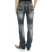 Rock & Roll Cowgirl Mid-Rise Boot Cut Jeans
