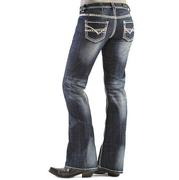 Rock & Roll Cowgirl Women's Boot Cut Riding Jeans