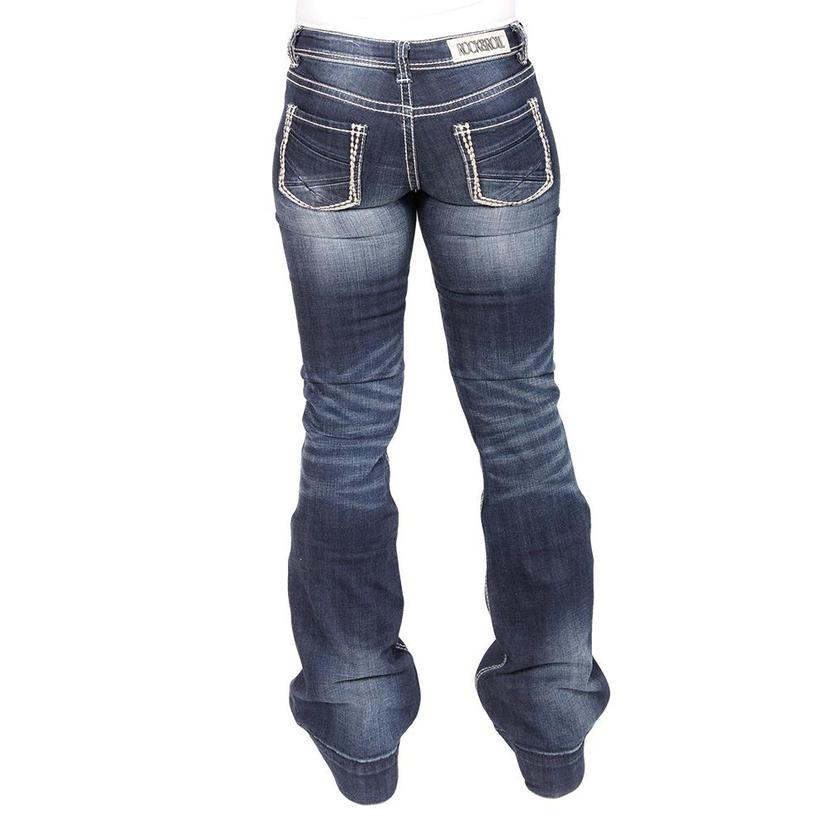 Rock & Roll Cowgirl Low Rise Plain Pocket Women's Trousers