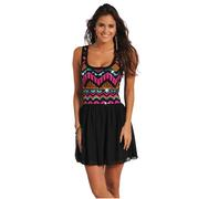 Rock & Roll Cowgirl Womens Aztec Sequin Tank Dress