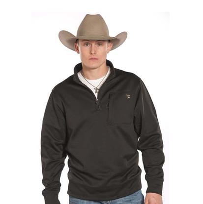 Rock & Roll Denim Mens Tuf Cooper Panhandle Slim 1/4 Zip Fleece Pullover